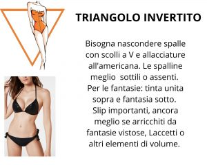 bikini triangolo invertito body shape